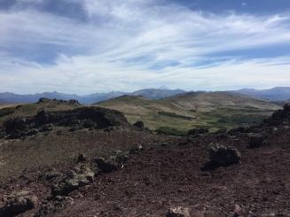 Vulkan Lanin in der Ferne