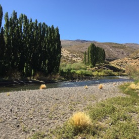 Beautiful river flowing right next to the estancia