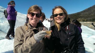 Whiskey on Gletscher-Ice