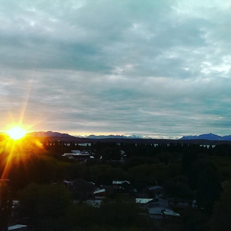 Sonnenuntergang - Sicht aus dem Zimmer im America del Sur Hostel