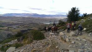 Gauchos mit Lebensmitteln für das Refugio Chileno
