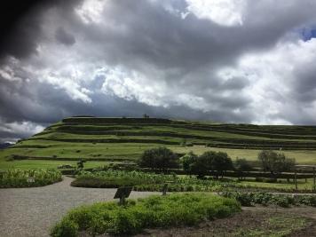 Ruinen von Pumapungo...naja, die Wolken sind eindrücklicher als die Ruinen