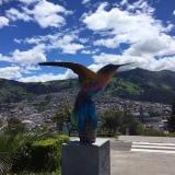 Aussicht vom parque itchimbia oberhalb des Hostels