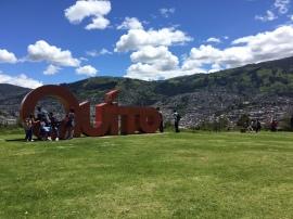 Parque Itchimbia und Quito im Hintergrund