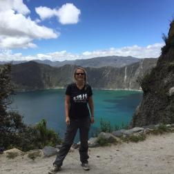 Ich vor dem Kratersee von Quilotoa