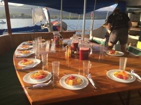 Breakfast with fresh fruit