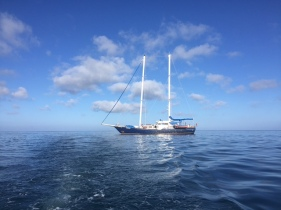 The Beagle - anchoring in front of Floreana