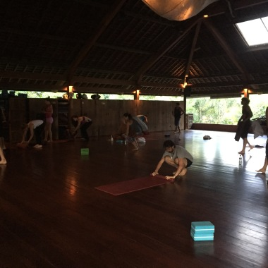 Yogabarn: After class - almost everyone is gone