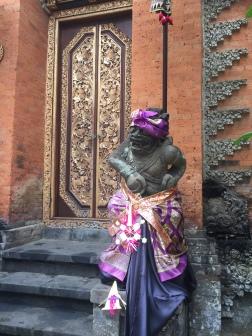 Close up guardian of the palace