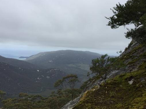 Aussicht vom Mt Oberon - dunkle Wolken im Anflug