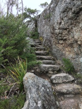 Die letzten Stufen zur Spitze