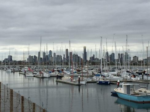 Boote und Skyline