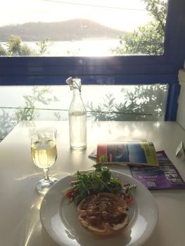Kürbiskuchen in Nubeena und Tasmanischer Weisswein