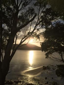 Sonnenuntergang in Nubeena