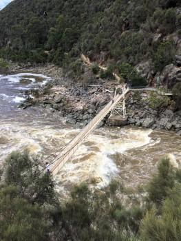 Hängebrücke über die Cataract Gorge