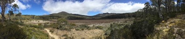 Mount Rufus und Little Hugel im Panorama