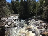Hier fliesst der Hugel und der Ouvier River zusammen