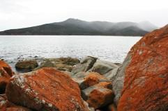 Rote Felsen an der Wineglassbay