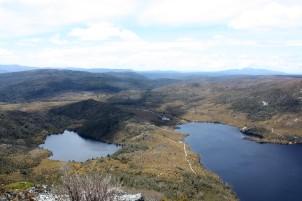 Blick auf den Dove Lake und den Lake Lilla