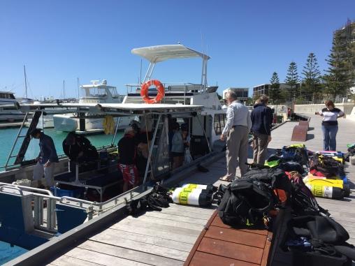 Das Boot von UEC - ab nach Rottnest