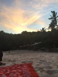 Sonnenuntergang am White Sand Beach