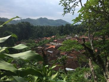 """Aussicht über das """"typisch"""" Balinesische Dorf"""